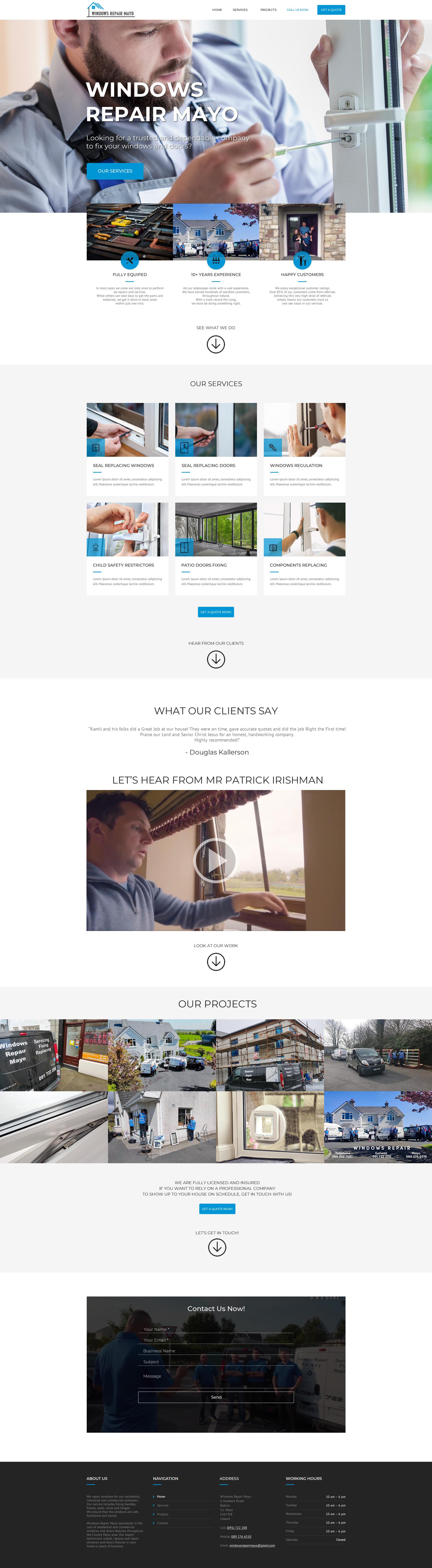 Windows Repair Mayo website developed by DigitalLab Web Design Agency Dublin